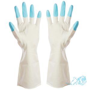 """Купить виниловые перчатки (без внутреннего покрытия, с уплотнением на кончиках пальцев) """"Белый Кот"""""""