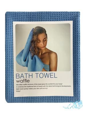 Купить полотенце банное вафельное, Белый Кот на официальном сайте