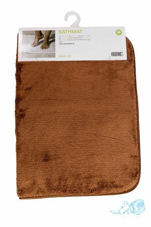 Купить коврик для ванной коричневый, Белый Кот недорого