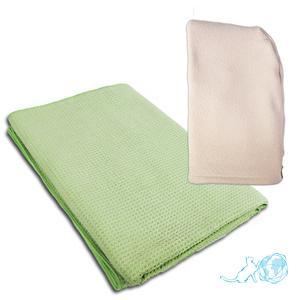 Купить полотенце вафельное + тюрбан для волос, Белый Кот недорого