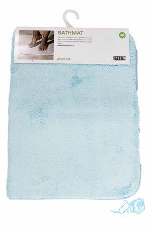 Купить коврик для ванной 65*45 см, голубой, Белый Кот недорого