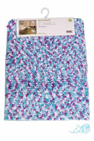 Купить коврик для ванной сиренево-голубой, Белый Кот недорого