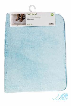 Купить коврик для ванны голубой, Белый Кот недорого