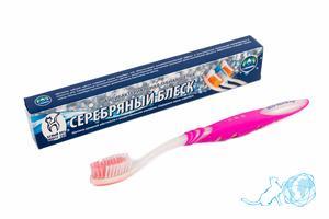 Купить зубную щетку с ионами серебра, Белый Кот недорого