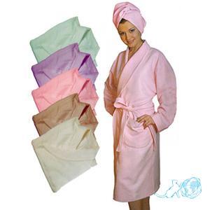 Купить халат банный замшевый, Белый Кот недорого