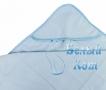 Купить полотенце детское с капюшоном (голубое) 70*75, Белый Кот в интернет-магазине