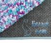 Купить коврик для ванной сиренево-голубой, Белый Кот в интернет-магазине