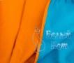 Купить полотенце Пляжное (оранжевое) 87*180, Белый Кот на официальном сайте